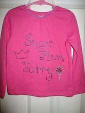 girls dark pink sugar plum fairy winter top with gems size 5T hot pink holiday