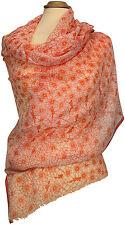 Sommer Boho Schal Orange Blumen Floral bedruckt, Modal, summer scarf airy stole