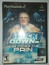 Sony Playstation 2 PS2 WWE SmackDown Here Comes the Pain CIB Complete!