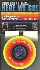 CHEMICAL BROTHERS Hey Boy Girl RARE RADIO EDIT USA 1998 PROMO Radio DJ CD single