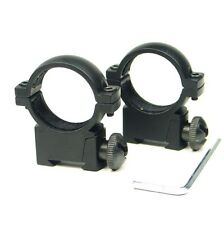 """QD 1"""" 25.4mm Low Profile Scope Ring for 11mm Mount Weaver Picatinny Rail Rifle"""