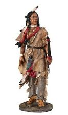 "10"" Indian w/ Bow & Arrow Statue American Figure Figurine North Native Warrior"