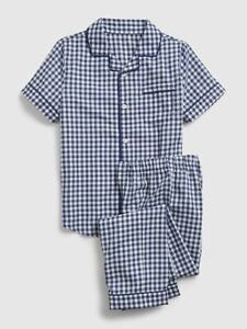 Gap Kids Girl's Blue Gingham Print Button Pajama Set NWT Various Sizes