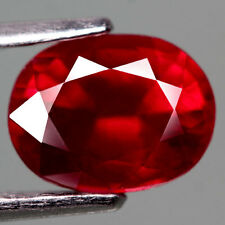 Natural Ruby 3.71ct Blood Red Oval Loose Gem FREE SHIPPING New Faceted USA