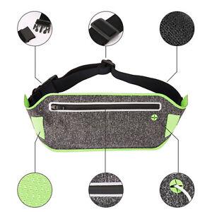 Waterproof Running Belt Bum Waist Pouch Fanny Pack Sport Camping Hiking Zip Bags