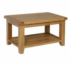 Trewick Rustic Oak Small Coffee Table with Shelf