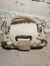 Dolce & Gabanna Ladies Cream Leather Plaited Strap Handbag