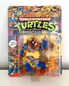 Teenage Mutant Ninja Turtles Wingnut & Screwloose MOC Unpunched TMNT MISB BNIB