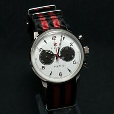 Seagull 1963 42mm Hand Wind Mechanical Chronograph Panda White Dial #6488-2901W