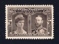Canada Sc #96 (1908) 1/2c Quebec Tercentenary VF NH