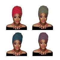 ** Women's Turban Stretch Knit Head Wrap Hair Jersey Scarf Tie Chemo African
