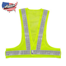 Xxl High Yellow Visibility Night Running Jogging Security Reflective Safety Vest