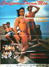 CALIFORNIA DREAM MEN 1990 FRANKFURT- orig.Concert Poster - Konzert Plakat A0 F/U