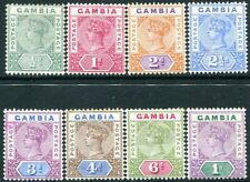 GAMBIA-1898-1902 Set of 8 Values Sg 37-44 MOUNTED MINT V29560