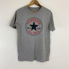Boys Converse All Star Crewneck Graphic Logo T-Shirt Gray Size XL