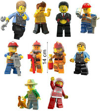 Set 10 Lego City Undercover Characters Vinyl Decal Removable Wall Sticker Decor