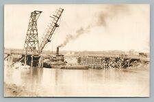 Tug Boat Agnes SAGAMORE Massachusetts RPPC Cape Cod Canal Photo Postcard 1910s