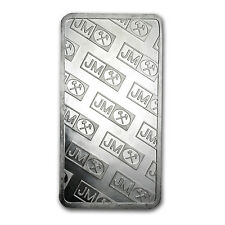 100 oz Silver Bar - Johnson Matthey (Pressed) - SKU #61316