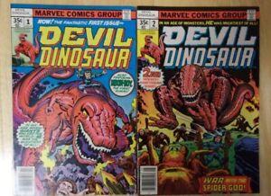 DEVIL DINOSAUR 1978 KIRBY SHARP SET #1 THRU #6 MOONBOY SPIDER GOD,THE GIANT