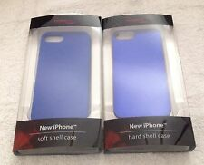 NEW Two (2) Rocketfish iPhone 5/5S Cases in Blue (Hard and Soft Cases)~Brand New