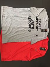 Nwt Lot of 2 Under Armour Red & Grey Short Sleeve Mens Large T Shirts Heat gear