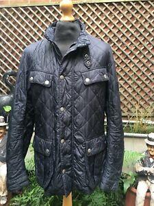 Barbour International ARIEL Quilt Biker Casual black jacket men's XL