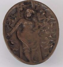 Beautiful Lady on Ladder in an Apple Orchard Erotic Bronze Dish or Tray  JZ-0774