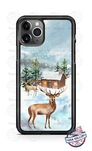 Country Barn Deer Stag Winter HolidayPhone Case For iPhone 11Pro Samsung LG etc