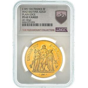 [#475197] Moneda, Francia, Union et Force, 5 Francs, An 10, Paris, NGC, PF62 CAM