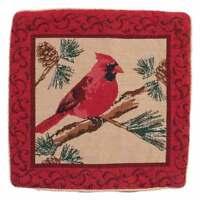 Cardinal Pillow Cover, Red/Burgundy