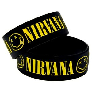 Nirvana 25mm Silicon Rubber Wristband