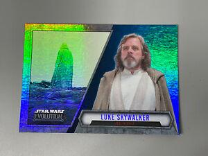 Luke Skywalker 2016 Topps Star Wars Evolution Blue Lightsaber Parallel #33