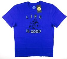 c042f7f4 Life Is Good Pump Putt Tee Shirt T-shirt Mens Medium Blue Classic Fit Golf