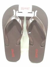 ESPIRIT Men's Caribbean Sandal Flip Flop Dark Brown Size 10