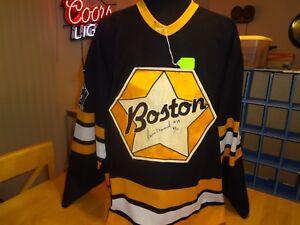 BOSTON BRUINS GAME WORN JERSEY