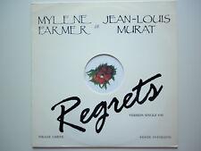 Mylene Farmer / Jean Louis Murats Maxi 45Tours vinyle Promo Regrets