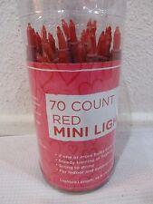Valentines Lights Red Cord 70 Mini String Lights Decoration Decor