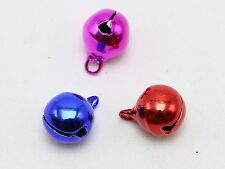 50 Mixed Color JINGLE BELLS~Christmas Bell~Bead Charms 10mm Decoration DIY Craft