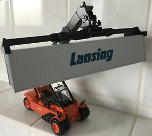 Lansing Container Reach Stacker forklift truck fork lift + Metal container