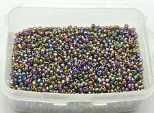 5000 Glass Seed Beads 2mm Luster AB Rainbow (10/0) + Storage Box