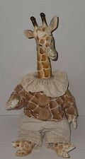"""New listing Vintage Anthropomorphic Tall Giraffe Doll Wood & Cloth Jointed Clothed 20"""""""