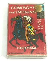 Canadian ED-U-CARDS 1960 Cowboys and Indians Card Game & Instructions Complete