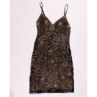 Sue Wong Floral Flower Print Pattern Mesh Embroidered Party Cocktail Dress 0