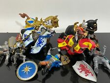 LOT Schleich & Papo Knights Medieval Horses Armour Renaissance Toy Figurines