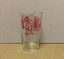 """Vintage Libbey Promo Collector's Glass Tumbler Comic Character Red 4 1/4"""""""