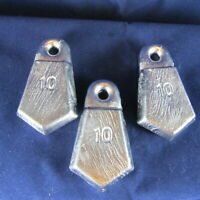 Flat Bank Sinkers 10oz Lots of 5, 10 and 20 available