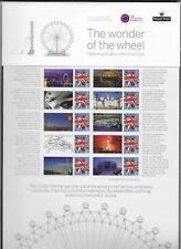 Qeii 2010 Commem sheet Cs11 10th Anniv The London Eye 10 stamps & labels pack