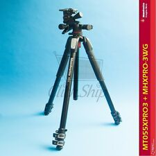 Manfrotto MT055XPRO3 Aluminum Tripod with MHXPRO-3WG Geared 3-Way Head Kit