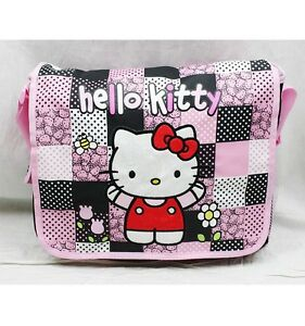NWT Sanrio Hello Kitty Messenger Diaper Shoulder Messenger Bag Black Pink