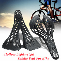 Carbon Mountain MTB Road Bicycle Bike Cycling Hollow Lightweight Saddle Seat